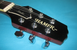 Hamer Studio Custom headstock